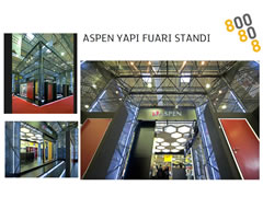 ASPEN –BUILDING FAİR GOLDEN MAGNET STAND DESIGN AWARD 2013