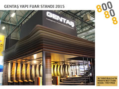 GENTAŞ –BUILDING FAİR GOLDEN MAGNET STAND DESIGN AWARD 2015